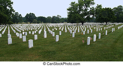 Arlington Cemetery in Washington DC - Graves in Arlington...