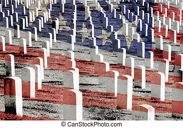 Arlington cemetery with Gravestones - Arlington Cemetery and...