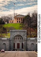 Arlington National Cemetery - Arlington House at the...