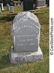 Arlington marker - Grave stone for a nurse that served in...
