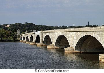 arlington, monumento conmemorativo, puente