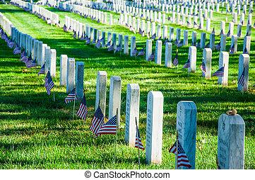 Arlington National Cemetery near to Washington DC, in Summer...