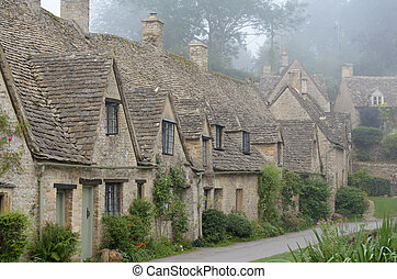 Arlington Row, Bibury - The Arlington Row, honey coloured...