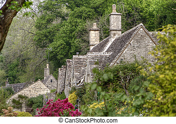 Arlington Row in Bibury in the Cotswolds, UK