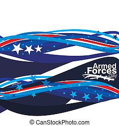 armé, jour, forces