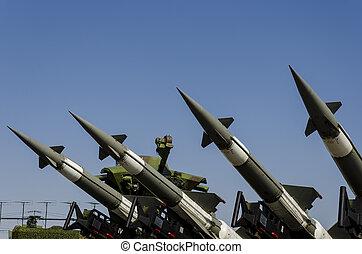 armée air, système, missile