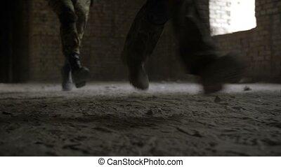 armée, gardes forestiers, pendant, action, militaire, opération