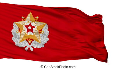armée, isolé, seamless, drapeau, peuples, coréen, boucle