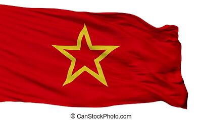 armée, isolé, seamless, drapeau, rouges, boucle
