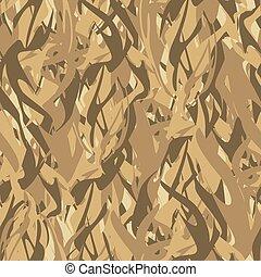 armée, modèle, de, flames., militaire, vecteur, camouflage, texture, résumé, fire., chasseur, soldats, protecteur, seamless, pattern.
