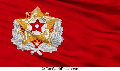 armée, seamless, drapeau, closeup, peuples, coréen, boucle