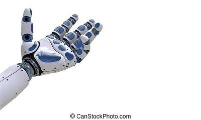 arm., 4k., robot, motion main, robotique, futuriste