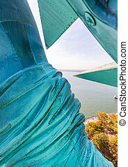 Arm and crown of Statue of Liberty, New York City
