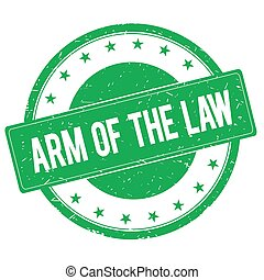 ARM OF THE LAW stamp sign green