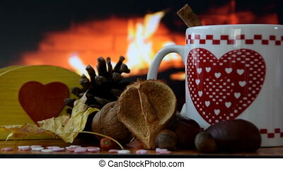 arm up around the fireplace this holiday season with delicious hot drinks.
