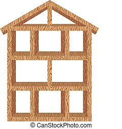 armação casa, madeira
