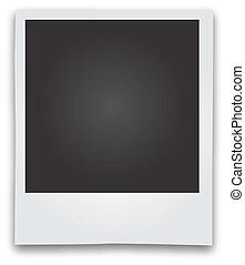 armação quadro, vetorial, polaroid