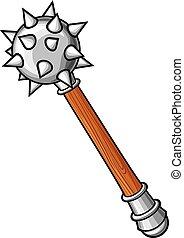 arma, antiga, -, macis, medieval