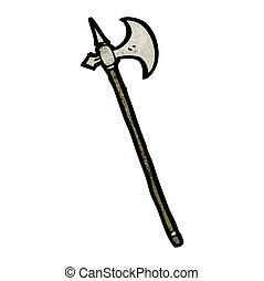 arma, cartone animato, medievale