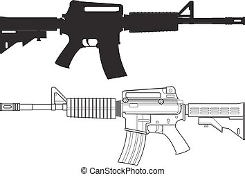 arma de fuego, asalto, norteamericano
