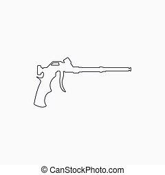 arma de fuego, herramienta, icon., casa, construcción, ...
