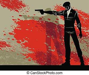 arma de fuego, hombre
