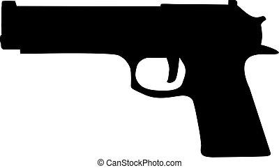 arma de fuego, icono
