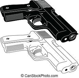 arma de fuego, silueta