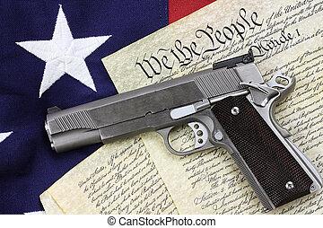 arma de fuego, y, constitución