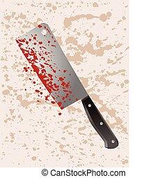 arma de homicidio, cuchilla de carnicero