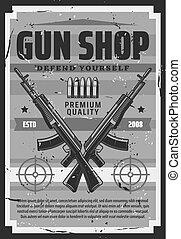 arma, defensa, caza, armas de fuego, tienda, sí mismo,...