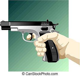 arma, mão