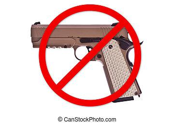 arma, não, permitido