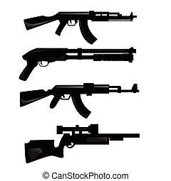 arma, siluetas