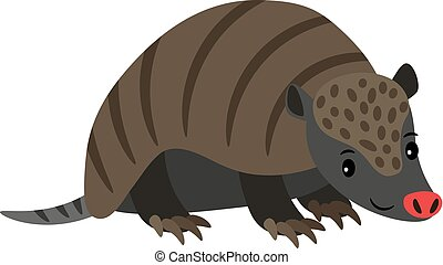 Armadillo cartoon animal icon
