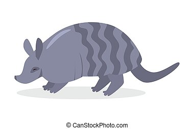 Armadillo Cartoon Icon in Flat Design