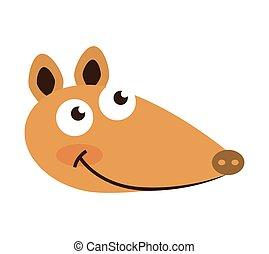 armadillo cute character icon