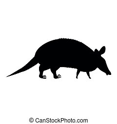 Armadillo icon black color illustration flat style simple...
