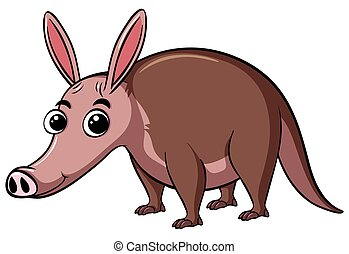 Armadillo with cute face illustration