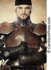 armadura, cavaleiro, medieval