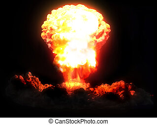 3d rendered illustration of a nuclear explosion