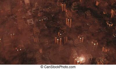 Armageddon City 1 - Metropolis - aerial 3D render
