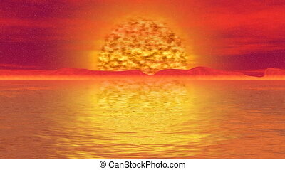 Armageddon sun seamless loop video