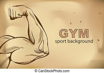 armar los músculos