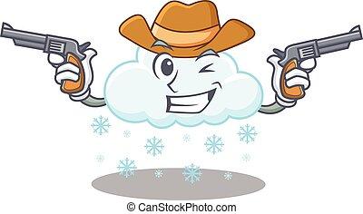 armas de fuego, carácter, lindo, guapo, nube, vaquero, ...