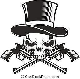 armas de fuego, cráneo
