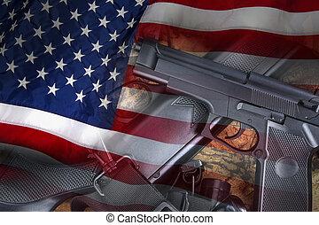 armas, estados, unidas, -, armas