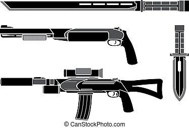 armas, jogo, forças especiais