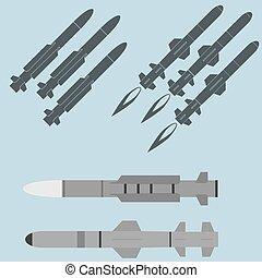 armas, militar, foguete, míssil