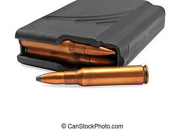 armas, revista, munición, automático